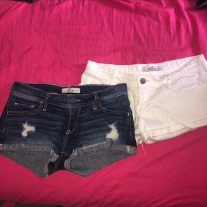 Hollister bundle of Jean shorts